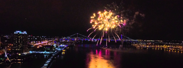 Drone Captures Fireworks in Philadelphia, Credit: YouTube