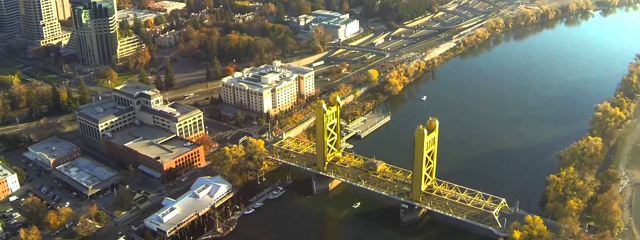 Sacramento, California by Drone, Credit: YouTube