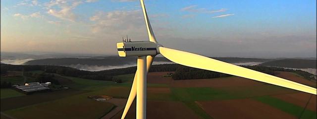 Wind turbine view from DJI Phantom, Credit: YouTube